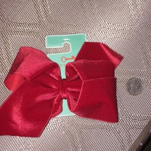 Copper Key Accessories - New With Tags Gorgeous Red Velvety Hair Bow